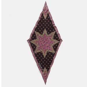 Star Patchwork Silk Diamond Scarf